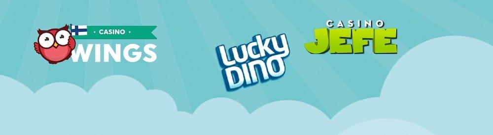 CasinoJEFE ja LuckyDino ovat päivittäneet tervetuliaispakettinsa