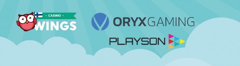 Playson ja ORYX Gaming uudessa yhteistyössä