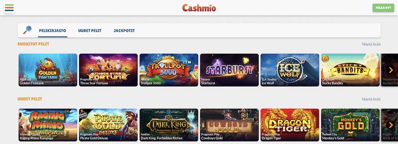 Cashmio on nyt myös pay'n play -kasino