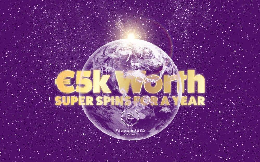 Voita superkierroksia 5 000 € arvosta Frank & Fredilla