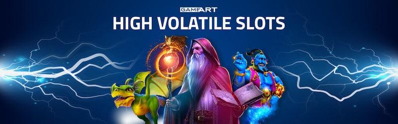 Kolme korkean varianssin peliä GameArtilta