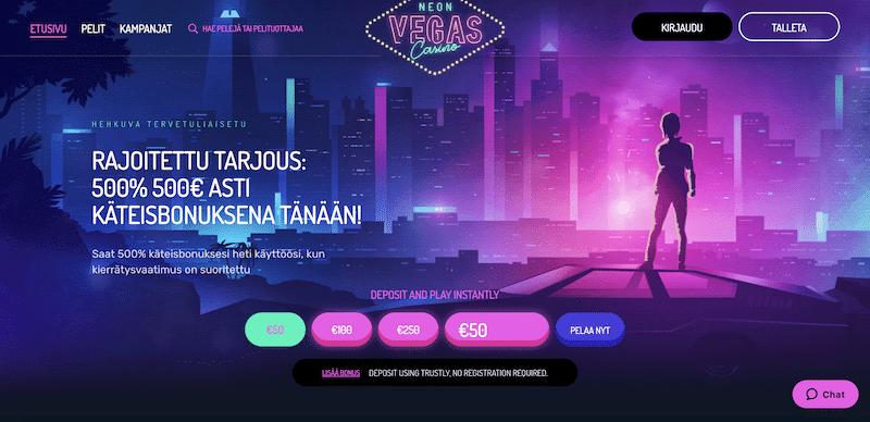 Casino Wingsin kuumin uutuus: NeonVegas