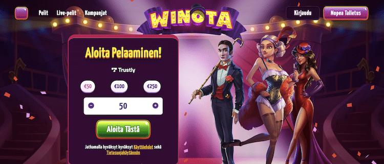 Esittelyssä Winota – uusi kasino Casino Wingsin listoilla